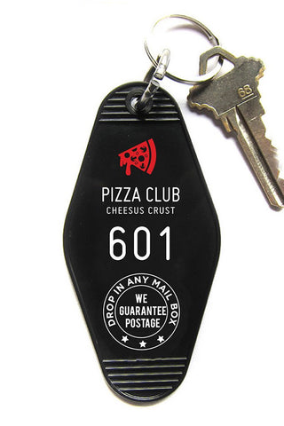 Pizza Club Key Tag