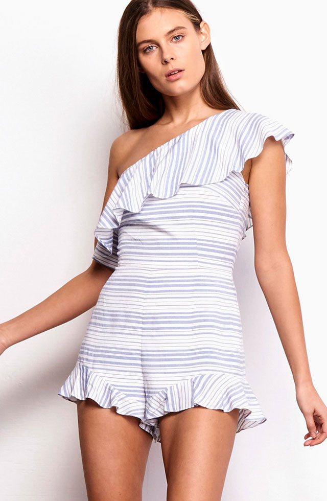 Colleen One Shoulder Romper