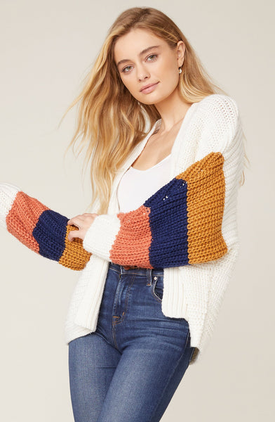 Block and Roll Colorblock Cardigan