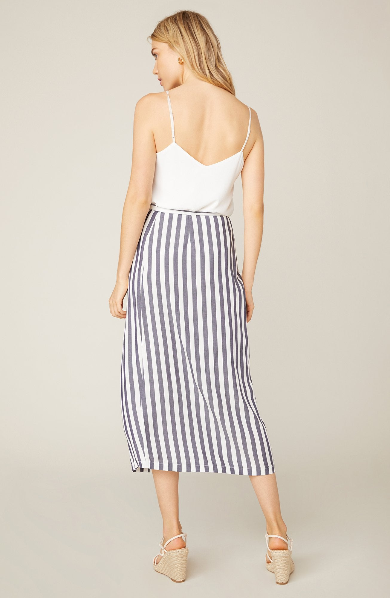 With A Twist Stripe Midi Skirt