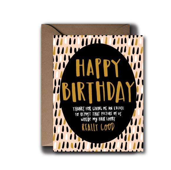 Social Media Birthday Card