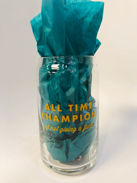 All Time Champion Glass