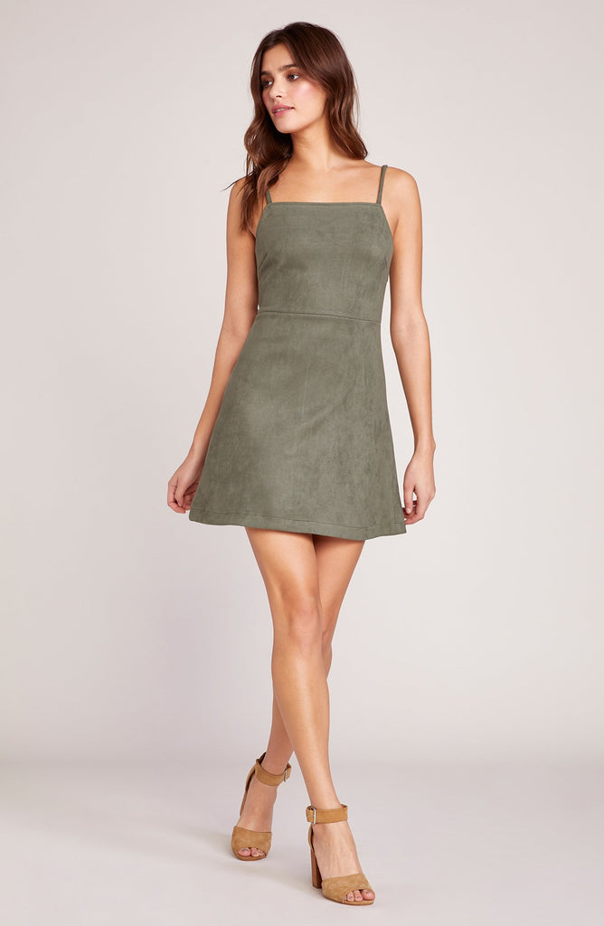 Fair and Square Suede Dress