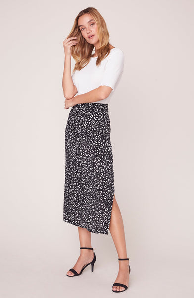 Rare Breed Leopard Midi Skirt