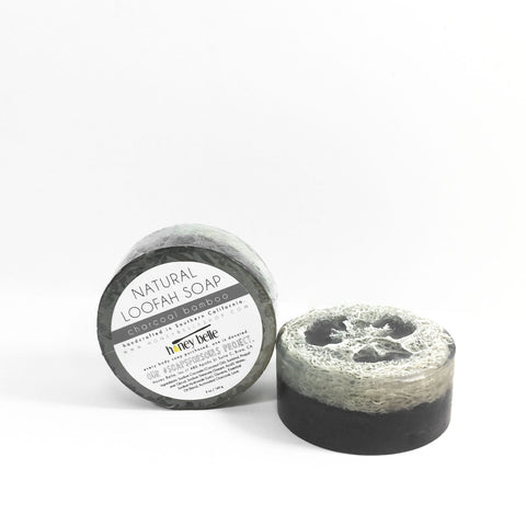 Charcoal Bamboo Loofah Soap