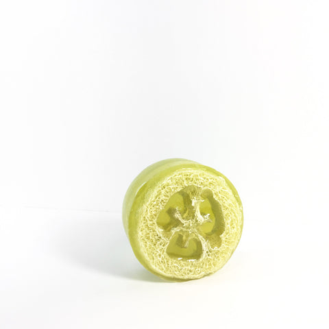 Green Tea Cucumber Loofah Soap