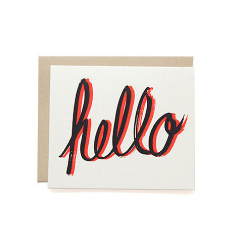 Everyday Sayings Card in Hello