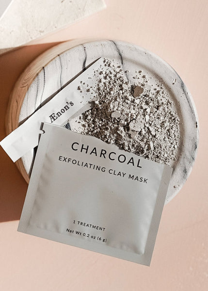 Charcoal Exfoliating Clay Face Mask - SINGLES
