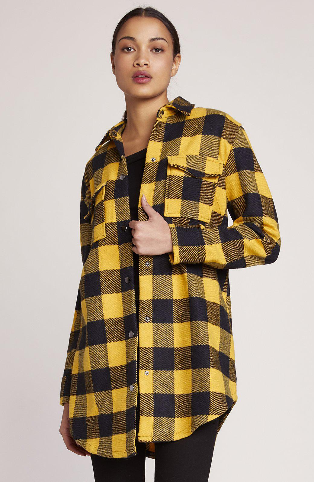 Plaid Company Coat