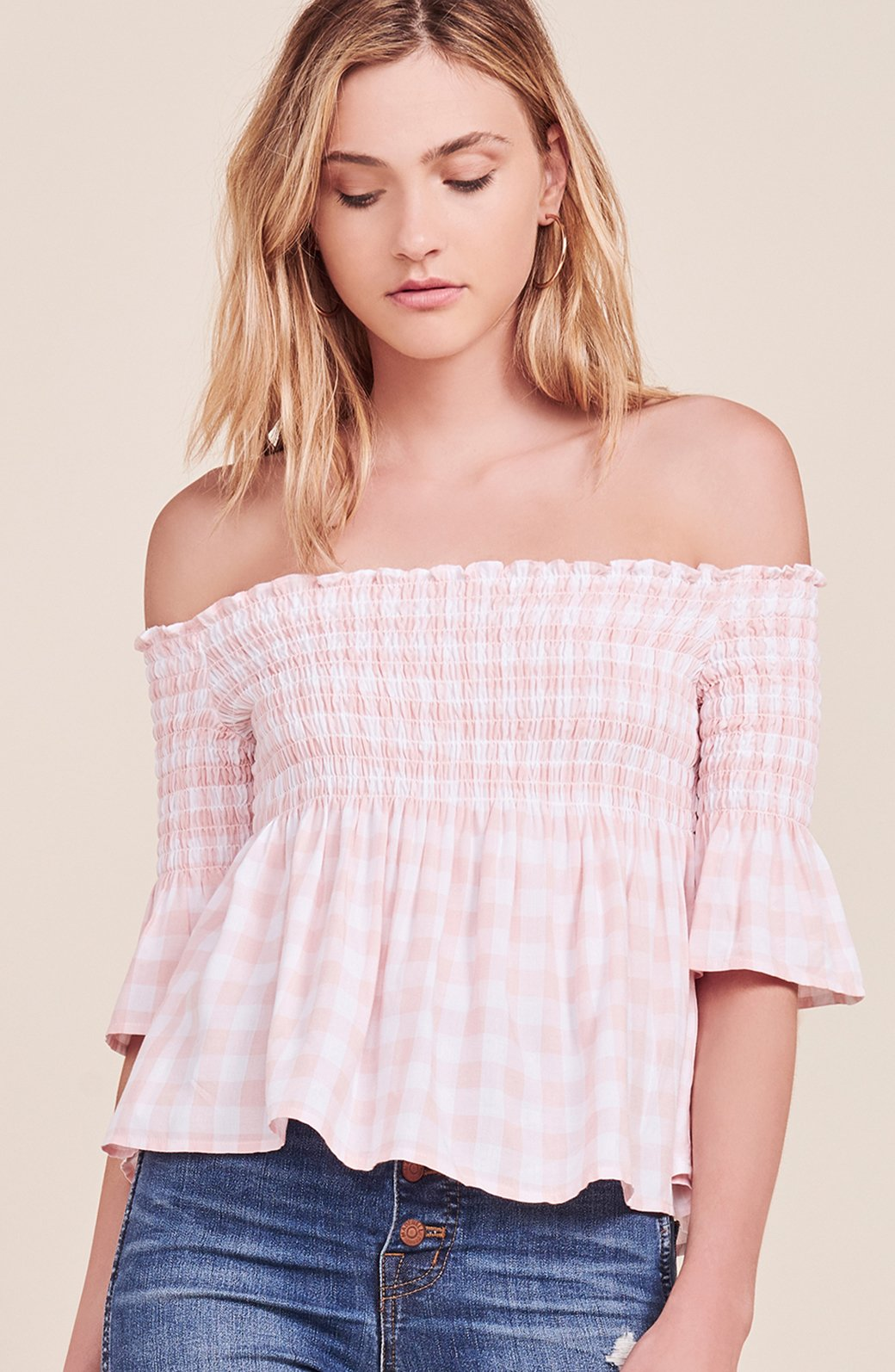 Susie Gingham Top