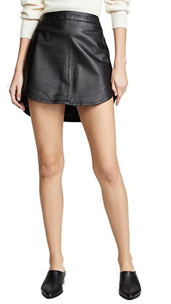 Conrad Leather Skirt