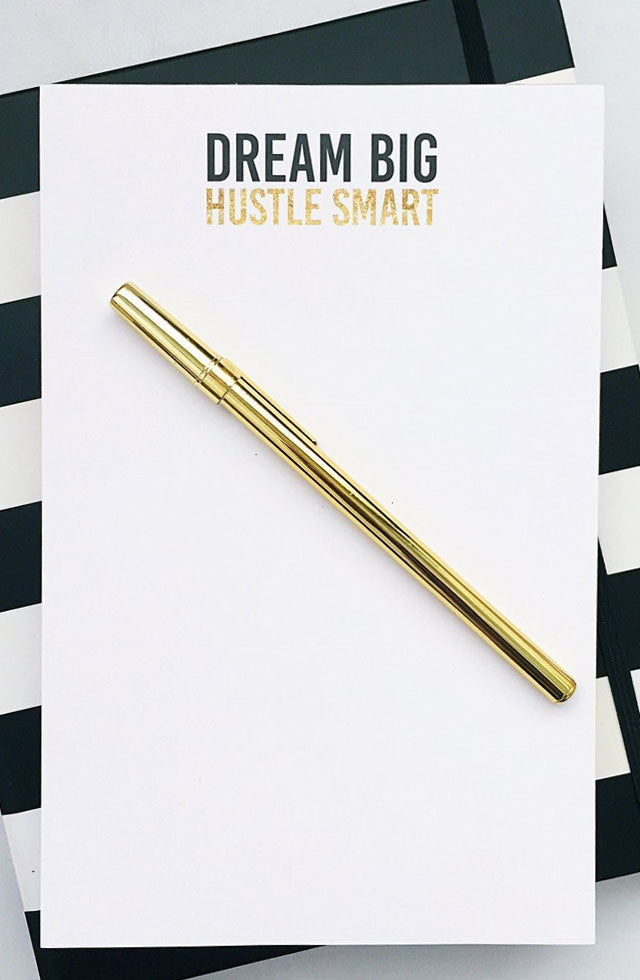 Dream Big, Hustle Hard Notepad