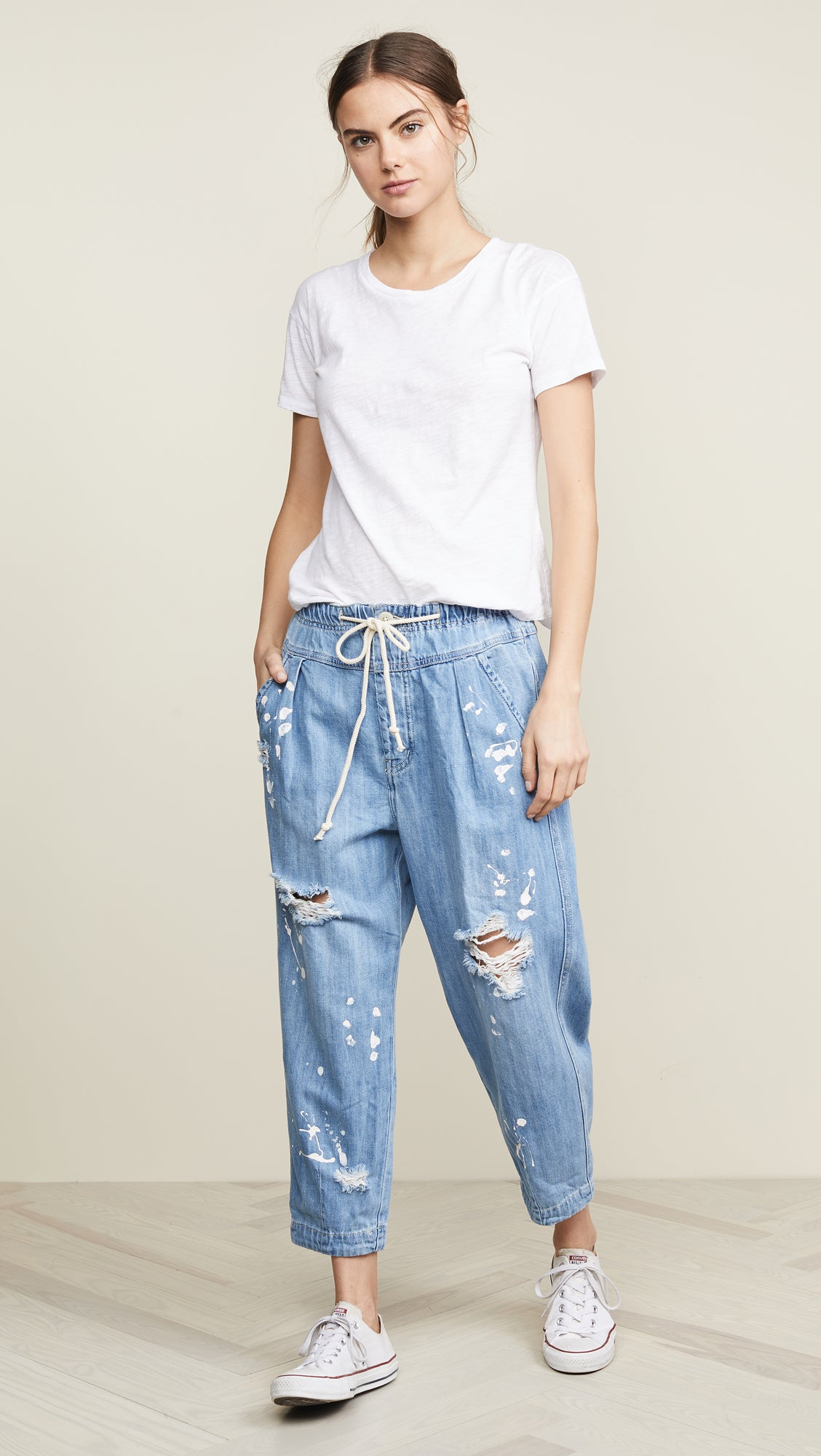 Mixed Up Utility Jean