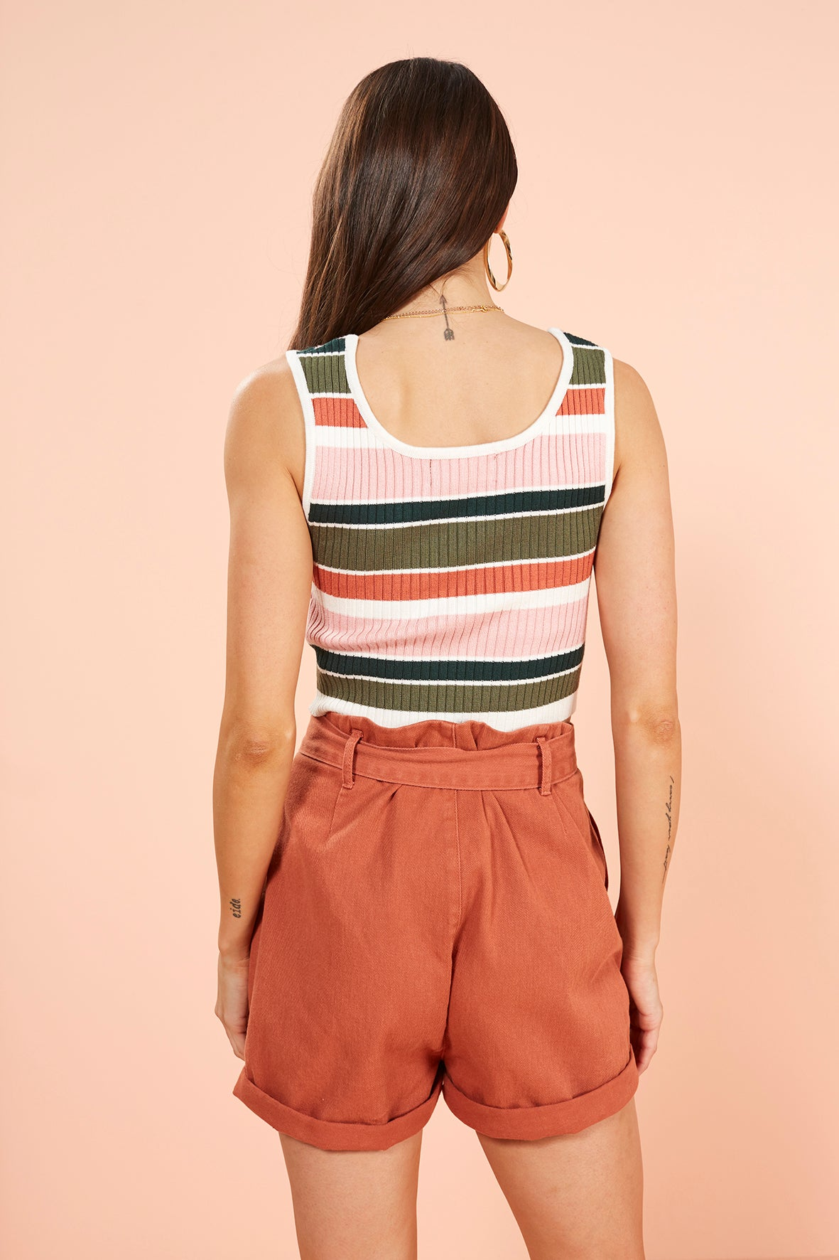 Open Air Stripe Crop