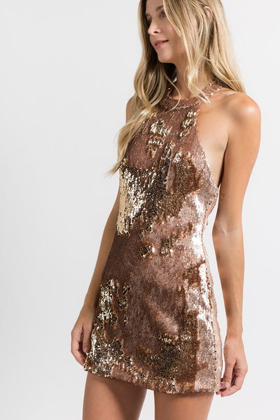 Disco Ball Halter Dress