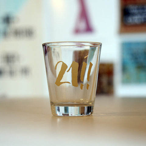 21! Shot Glass