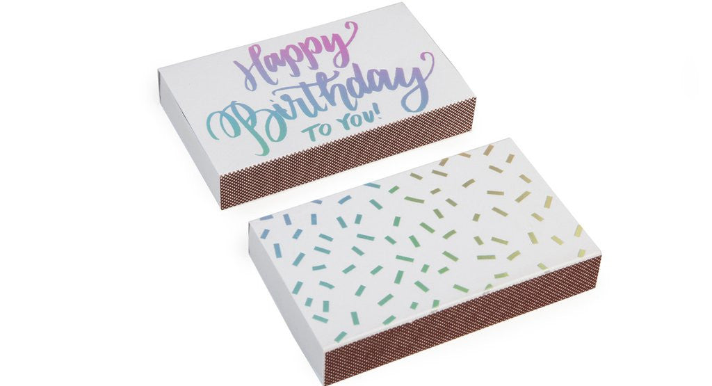 The Social Type Happy Birthday Matchbox - SWANKBOUTIQUE.COM
