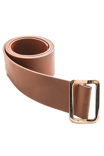 Simple Wide Vegan Leather Belt