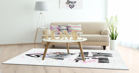 Moderner Design Druck Teppich | Cat Love
