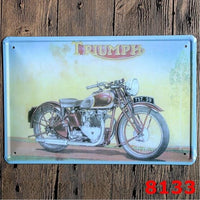 12X 8 Inches Motorcycle Metal Sign Man Cave Decor Garage Wall Decals Crafts Vintage Motor Home Decor Tin Sign
