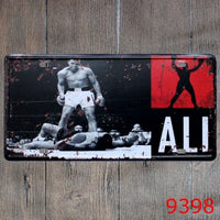 15x30cm Boxing Champion Ali Decor Bar Pub Home Vintage Retro Poster Cafe Art Metal Tin Sign