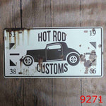 15x30cm Hot Rod. Number plate style tin sign