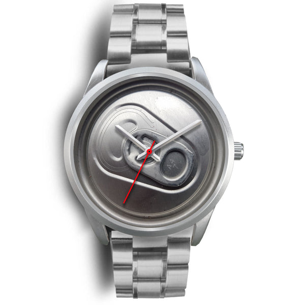 Beer time silver watch
