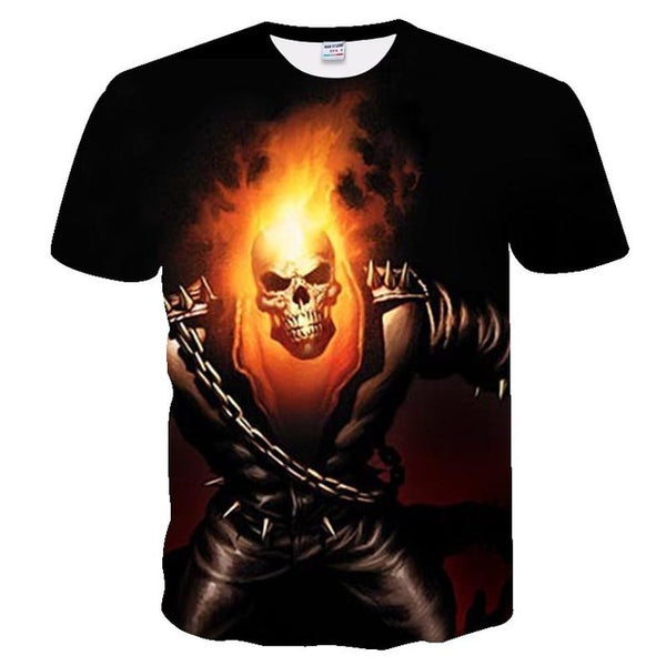 3d skull t shirts Mens Casual 3D Printed T shirt
