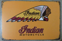 20x30CM Indian Motorcycle 1901 Metal Poster  Vintage Tin Sign for the Garage Man Cave