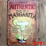 Authentic Margarita Metal Tin Signs Plate Poster Home Pub Bar Decor,20x30CM