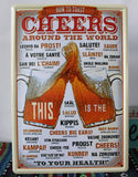 CHEERS Antique Tin Sign Metal Poster BEER Series Wall Decor Fit For BAR CLUB Wall Hanging 20*30cm
