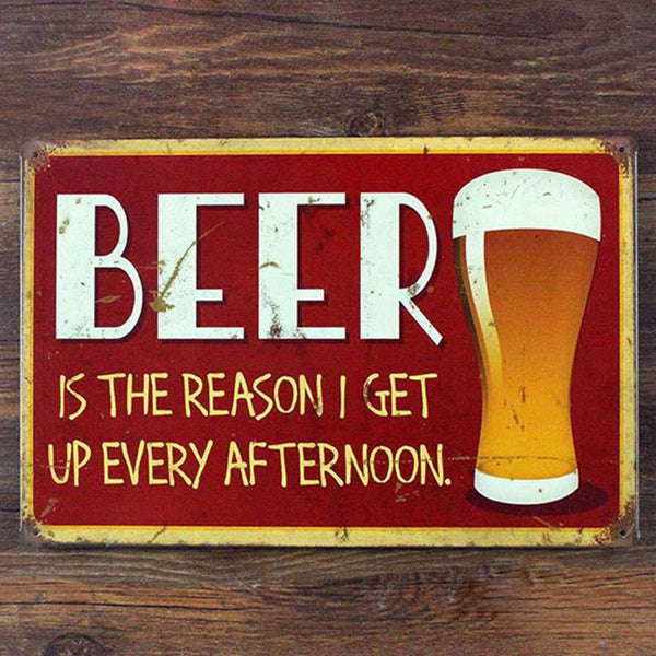 Funny bar sign of beer , beer tin sign for Bar Pub wall art decor
