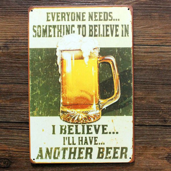 Funny metal tin sign beer , BEER TIN SIGN Vintage Wall Decor Pub Bar Metal Decor