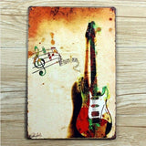 Guitar Vintage Metal Tin Signs Poster Home Pub Bar Wall Decor 20x30CM