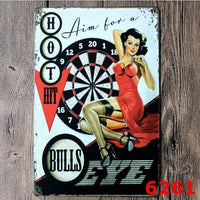 Hot Hit sexy Lady Vintage Tin Sign Bar Pub Home Wall Decor Retro Metal Poster 20x30CM