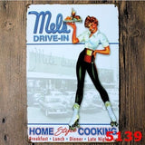 """Mels Drive-in"" Car Hop,Tin Sign, Hot Rod, Street Rod, Man Cave, Home Decor"