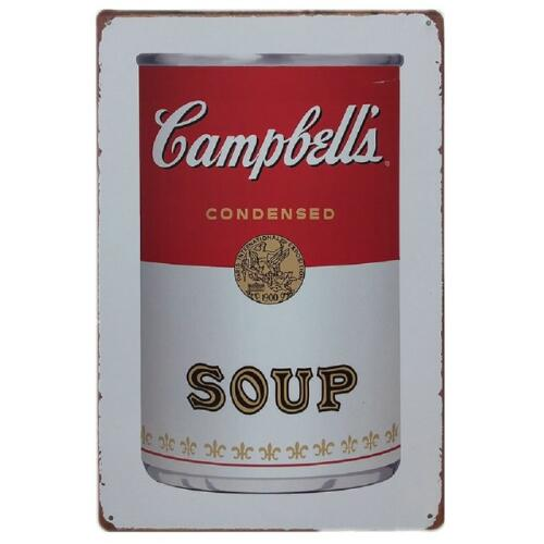 NEW Vintage Style Campbell's Soup Vintage Tin Sign Bar Pub Home Wall Decor Retro Metal Art Poster 20x30CM