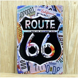 Route 66 Licence Plate 20*30CM Vintage Metal Tin Signs Advertising Poster Garage Wall Decor Bar Club Pub Plaque Home Decor