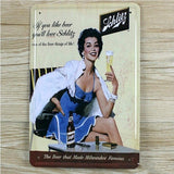 Schlitz Beer Tin Sign Metal Plate Poster Bar Pub Decor Ads 20x30CM