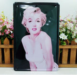 Sexy Marilyn Monroe Tin Metal Sign Bar Club Shop Vintage Old Wall Decor 20x30CM