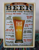 This is the beer! vintage metal sign retro tin signs antique imitation iron painting art poster wall decoration for bar pub