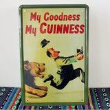 Tin Metal Sign Bar Hotel Home Wall Decor Sign 'My Goodness My Guinness'' 20x30CM