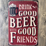 Tin Sign Vintage Retro Metal Poster Bar Pub Wall Decor Drink Good Beer Wine Decor 20x30CM