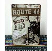 Vintage Tin Sign Retro Metal Bar Pub Poster, Route 66 Highway Road Freedom 20x30CM