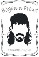 Bogan n Proud Goatee White T-Shirt