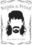 Bogan n Proud Goatee Black T-Shirt
