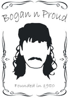 Bogan n Proud Mo Black T-Shirt