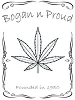 Bogan n Proud Leaf White T-Shirt