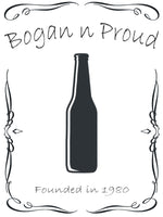 Bogan n Proud Longneck Black T-Shirt