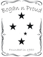 Bogan n Proud Southern Cross Black T-Shirt